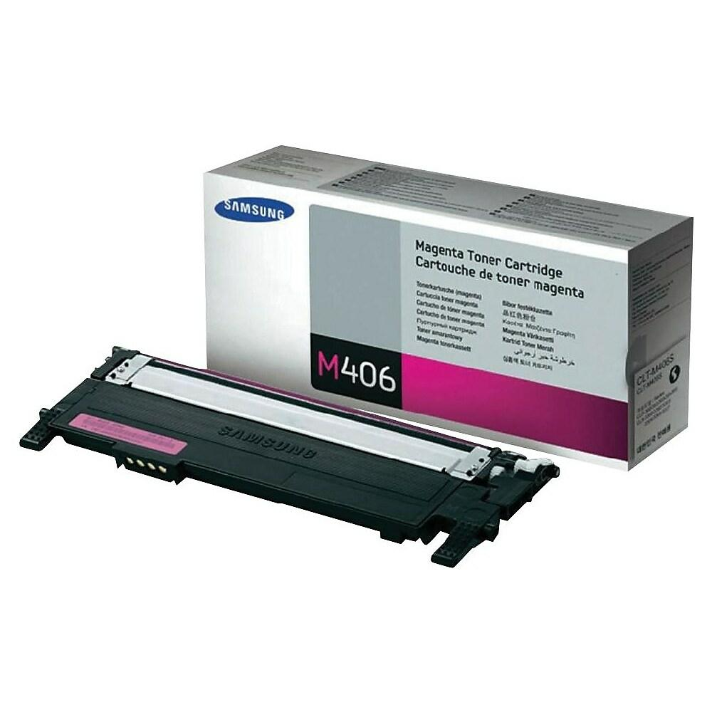 "Image Description of "" Samsung CLT-M406S Magenta Toner Cartridge (CLT-M406S)""."