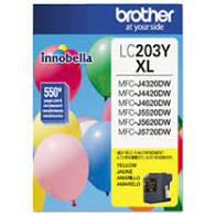"Image Description of ""Brother LC203 Yellow Ink Cartridge, High Yield (LC203YS)""."