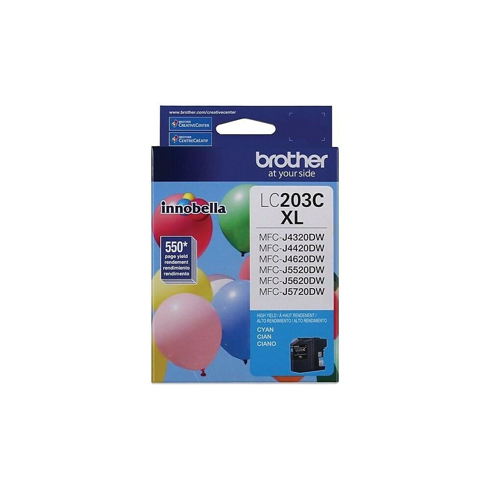 "Image Description of ""Brother LC203 Cyan Ink Cartridge, High Yield (LC203CS)""."