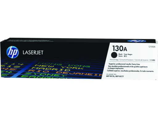 "Image Description of ""HP 130A Black Original LaserJet Toner Cartridge (CF350A)""."