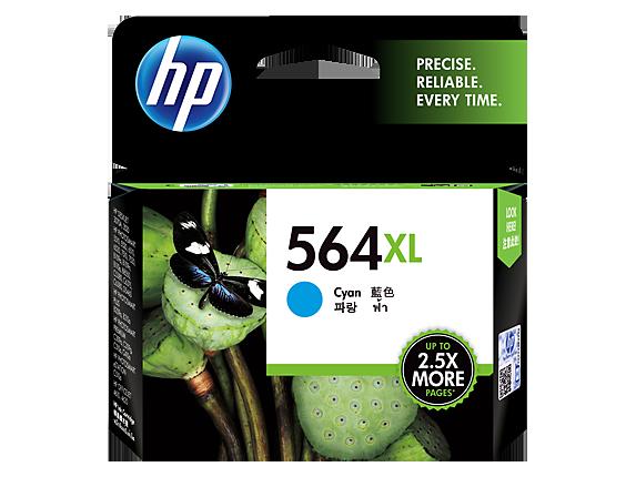 "Image Description of ""HP 564XL High Yield Cyan Original Ink Cartridge (CB323WC)""."