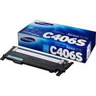 """Image Description of """"Samsung CLT-C406S Cyan Toner Cartridge (CLT-C406S)""""."""
