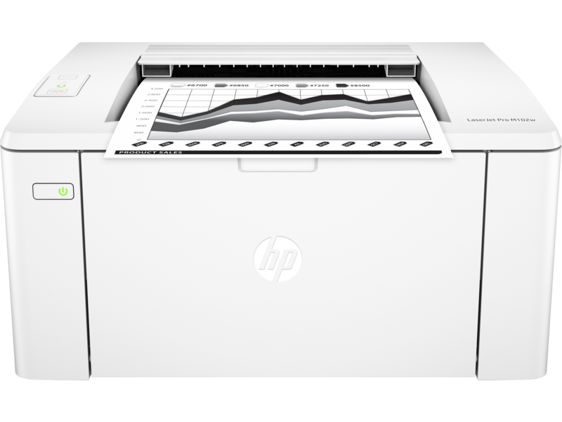 "Image Description of ""HP LaserJet PRO M102w""."