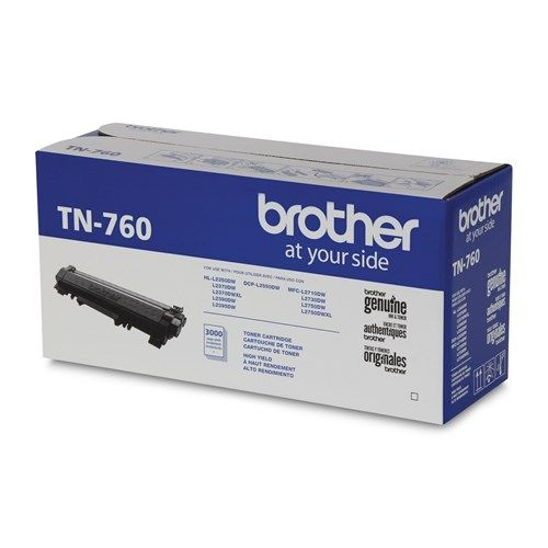 "Image Description of ""Brother Black Toner Cartridge, High Yield (TN760) ""."