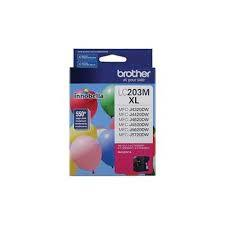 "Image Description of ""Brother LC203 Magenta Ink Cartridge, High Yield (LC203MS) ""."