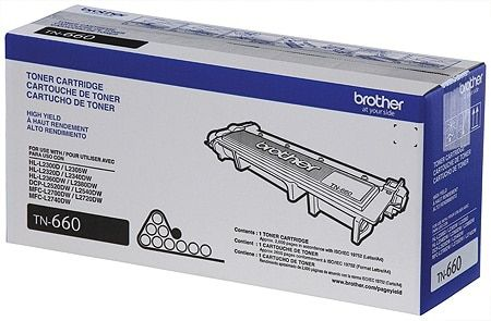 "Image Description of ""Brother High-Yield Black Toner Cartridge (TN660)""."