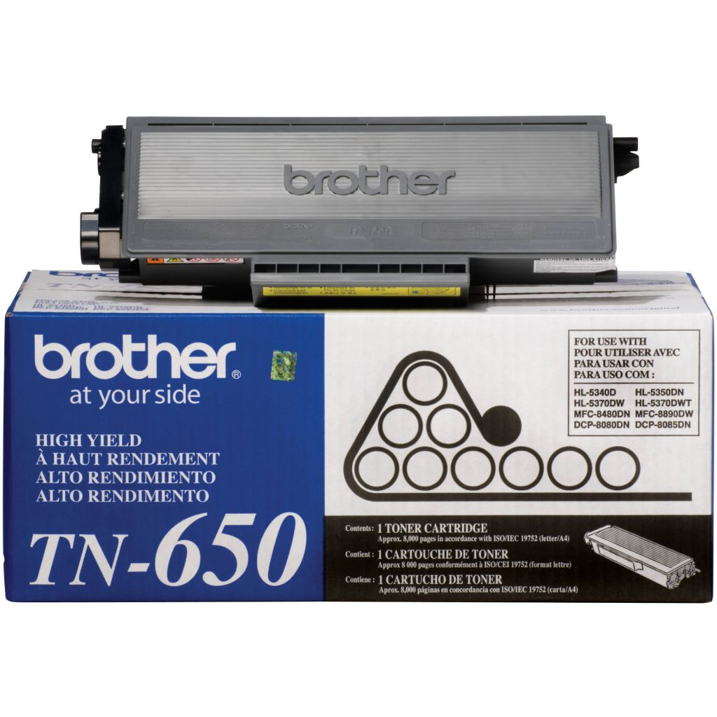 "Image Description of "" Brother High-Yield Black Toner Cartridge (TN650)""."