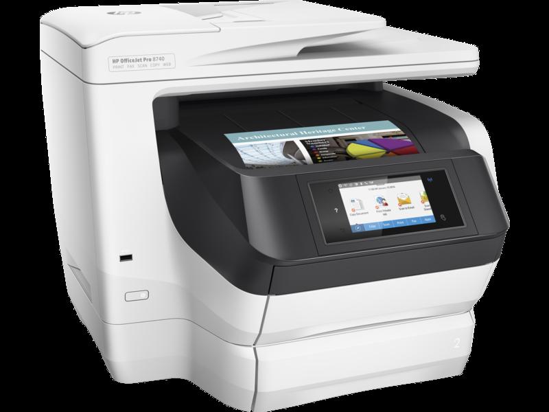 """Image Description of """"HP OfficeJet PRO 8740 AIO """"."""