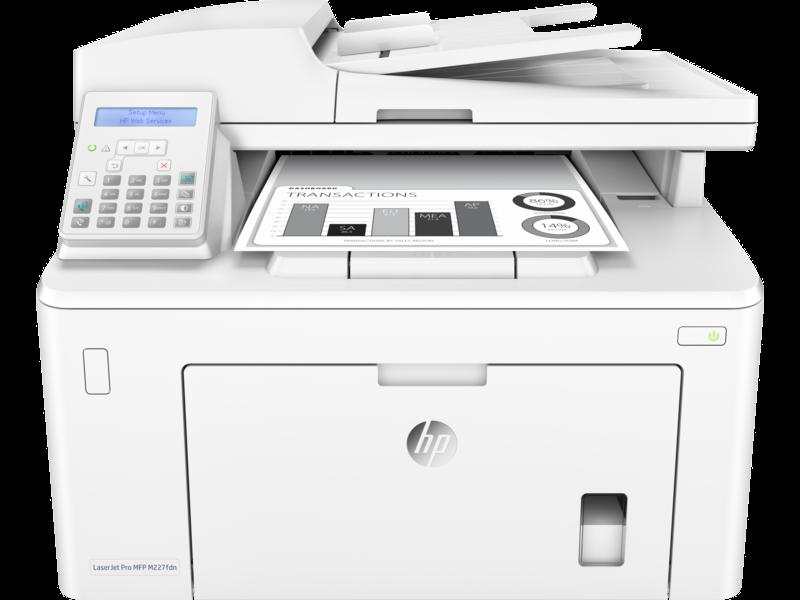 "Image Description of ""HP LaserJet PRO M227fdn""."