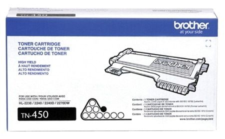 "Image Description of ""Brother High-Yield Black Toner Cartridge (TN450)""."