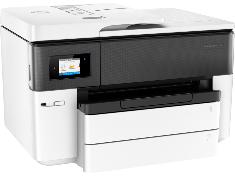 "Image Description of ""HP OfficeJet Pro 7740 Wide Format All-in-One""."