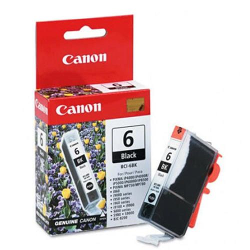 "Image Description of ""Canon BCI-6Bk Black Ink Tank (4705A003)""."