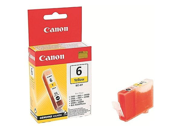 "Image Description of ""Canon BCI-6Y Yellow Ink Cartridge (4708A003)""."