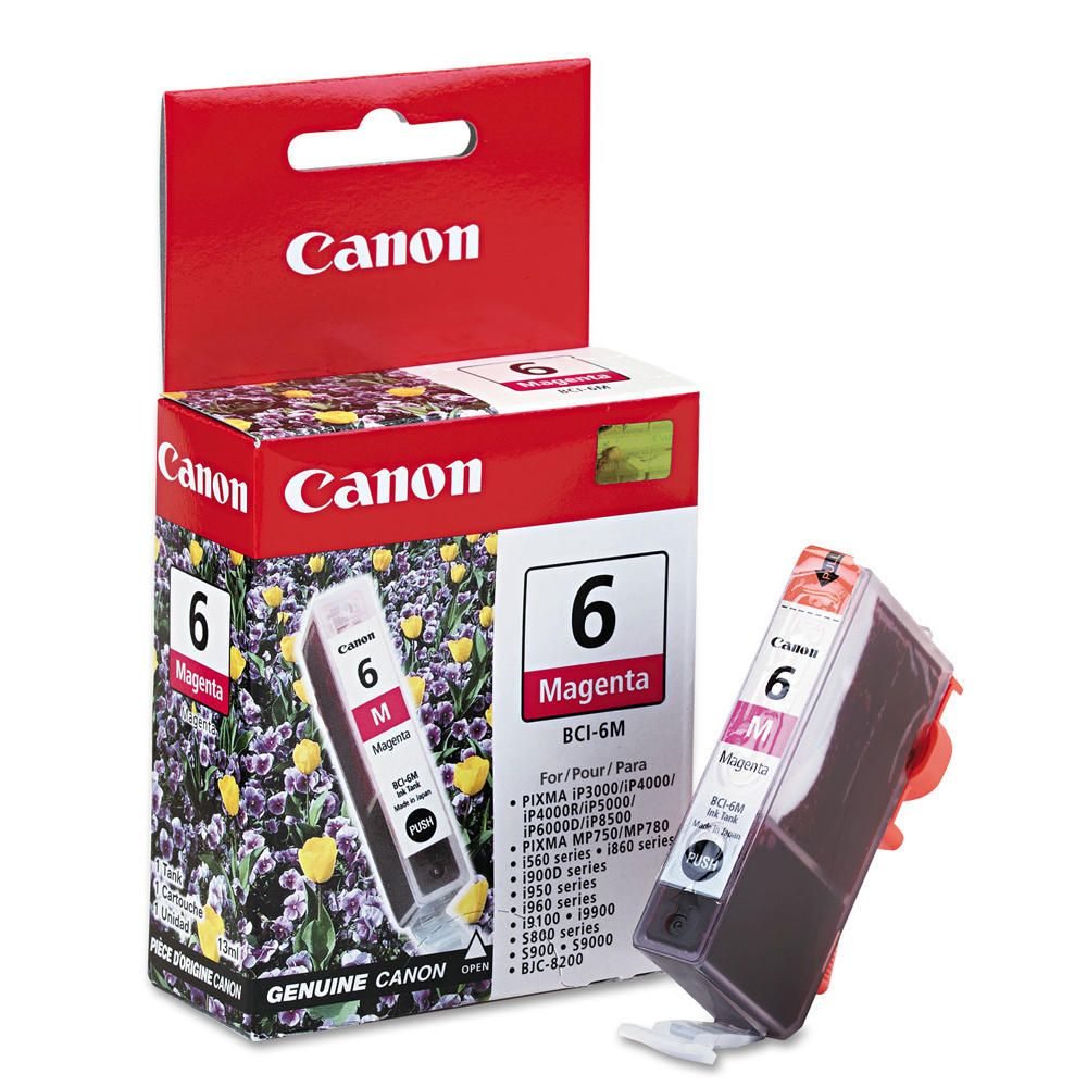 "Image Description of ""Canon BCI-6M Magenta Ink Cartridge (4707A003)""."